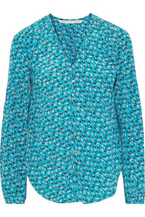 VERONICA BEARD Roca floral-print silk blouse