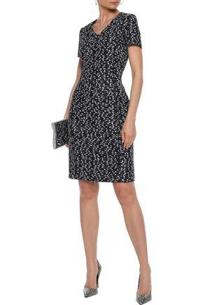 OSCAR DE LA RENTA Bouclé-tweed dress