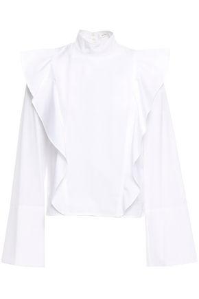 A.L.C. Ruffled cotton-poplin blouse