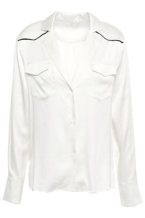 A.L.C. Silk-blend satin shirt