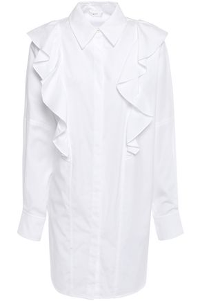 A.L.C. Ruffle-trimmed cotton-poplin tunic