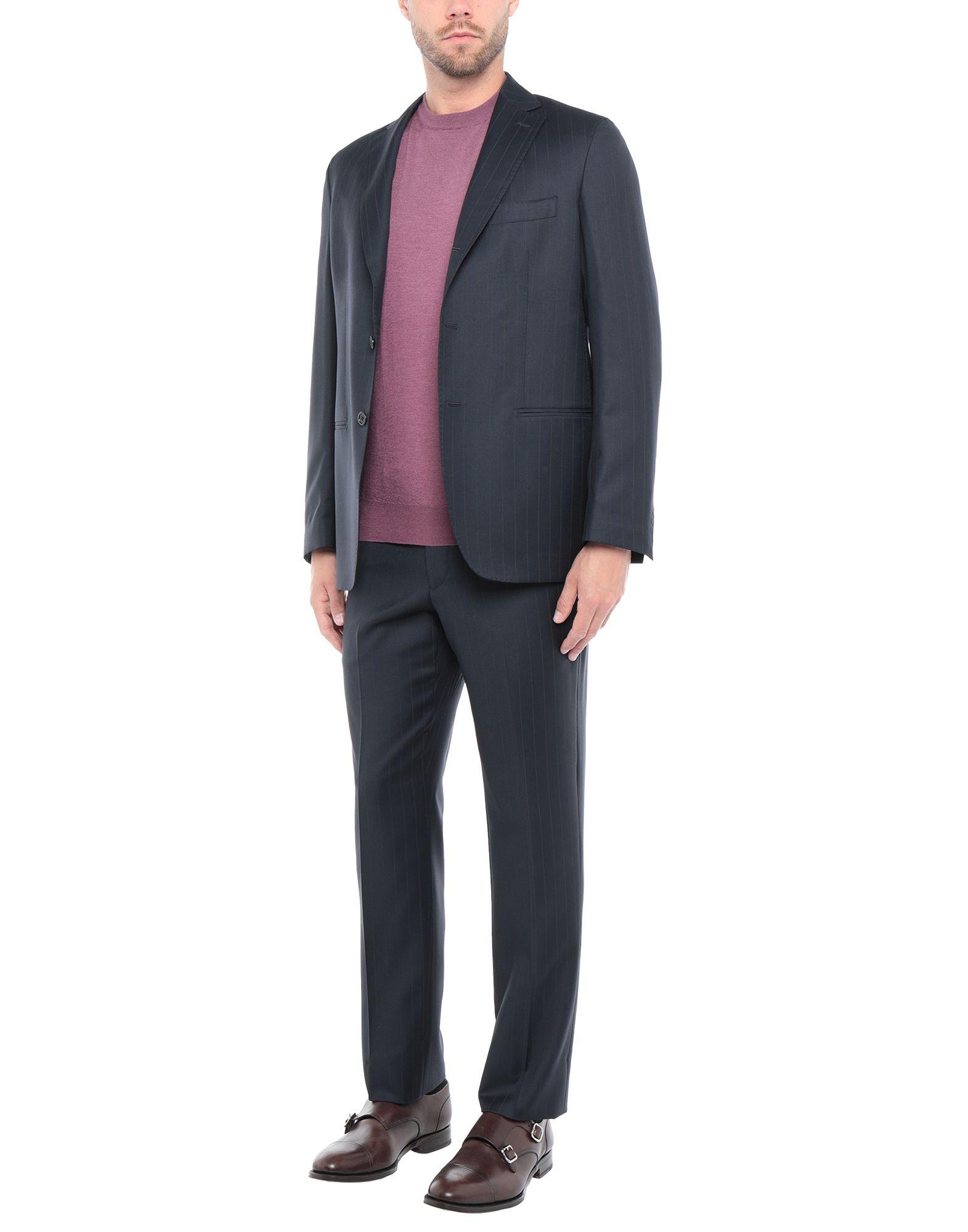 《送料無料》BAGNOLI Sartoria Napoli メンズ スーツ ダークブルー 50 ウール 100%