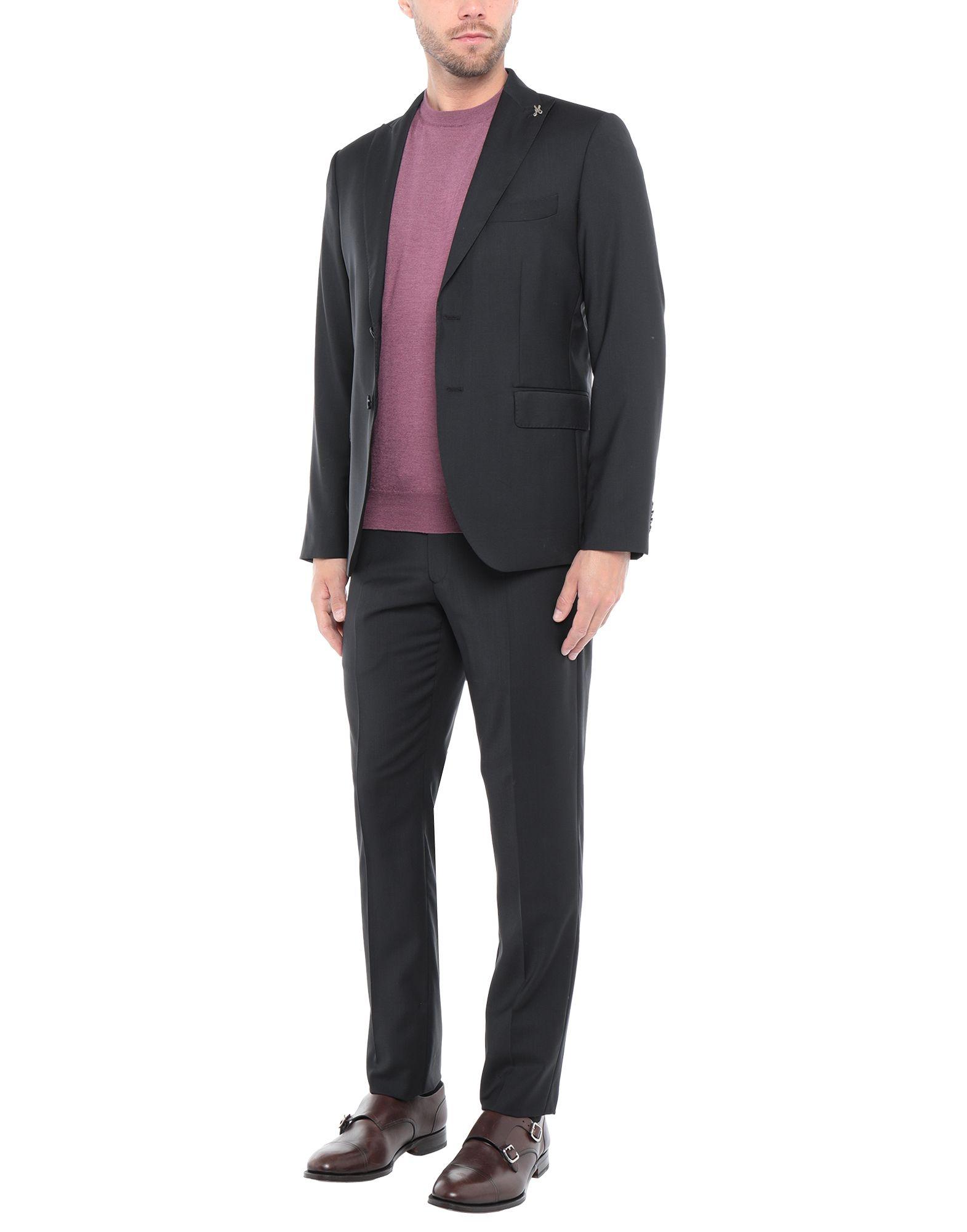 《セール開催中》DANIELE PAPA? メンズ スーツ ブラック 50 バージンウール 100%