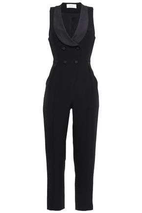 A.L.C. Double-breasted crepe jumpsuit