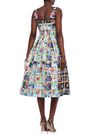 MARY KATRANTZOU Pleated printed faille midi dress