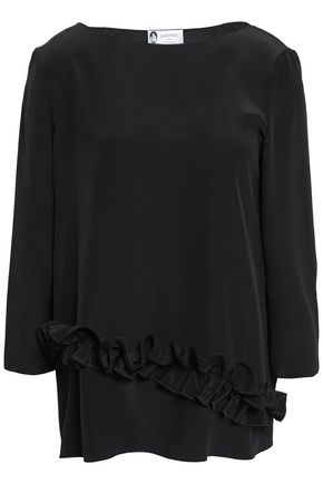LANVIN Ruffled silk crepe de chine top
