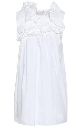 LANVIN Ruffled cotton-poplin top
