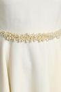 LANVIN Faux pearl-embellished wool dress