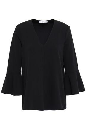 TIBI Fluted crepe blouse