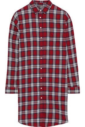DL1961 Elizabeth & Kenmare checked cotton and Tencel-blend mini shirt dress