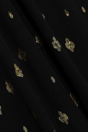 A.L.C. Rosa metallic fil coupé silk-blend georgette midi dress