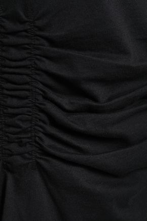 TIBI Oversized ruched cotton-jersey T-shirt