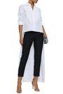 RACIL Asymmetric cotton-poplin shirt