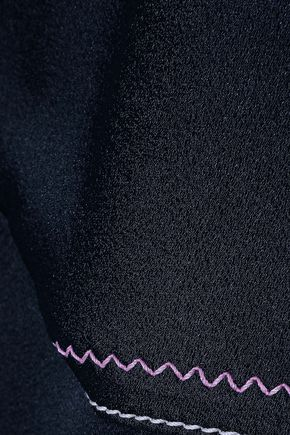PETER PILOTTO Cold-shoulder satin-crepe top