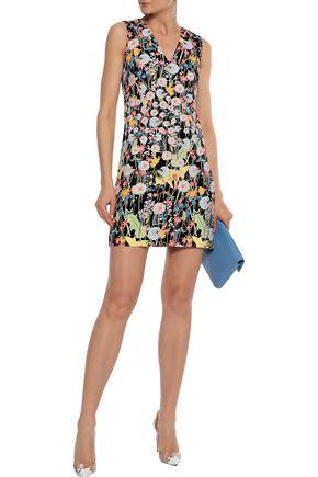PETER PILOTTO Printed cady mini dress