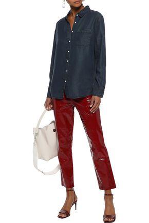 DL1961 Nassau & Manhattan lace-up Tencel-chambray shirt