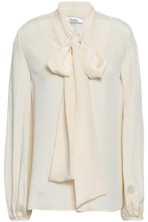 RACIL Pussy-bow silk crepe de chine blouse
