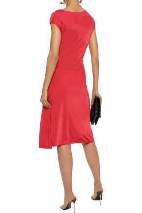 LANVIN Ruched satin-jersey dress