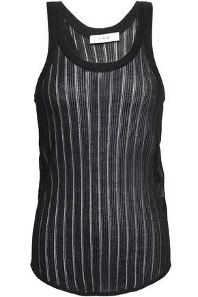 IRO Metallic open-knit tank