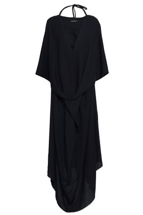 ANN DEMEULEMEESTER Ania twisted crepe maxi dress