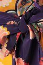 RACIL Ruffled floral-print silk crepe de chine maxi wrap dress