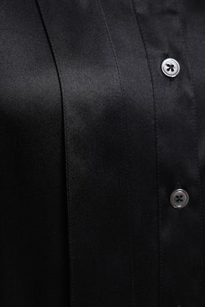 ANN DEMEULEMEESTER Draped silk-satin shirt