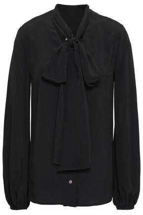RACIL Pussy-bow crepe de chine blouse
