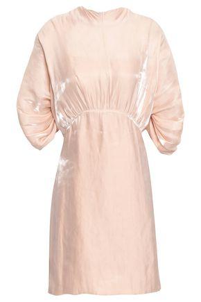PRADA Gathered satin mini dress