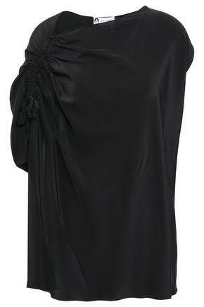 LANVIN Ruched silk crepe de chine top