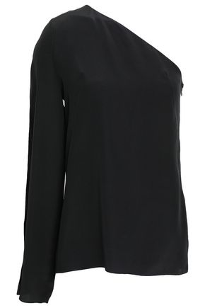 LANVIN One-shoulder silk crepe de chine top