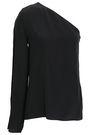 LANVIN One-shoulder silk crepe de chine top