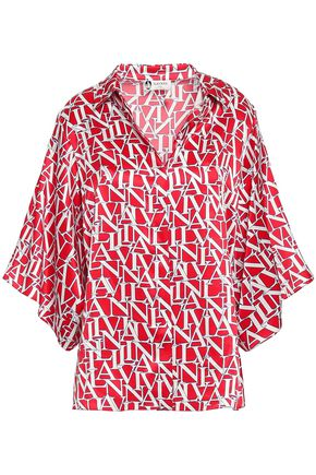 LANVIN Printed silk-satin shirt