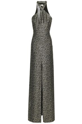 LANVIN Embellished metallic silk-blend jacquard gown