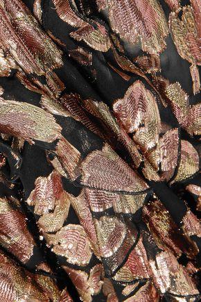 ALICE McCALL Metallic silk-blend jacquard midi dress