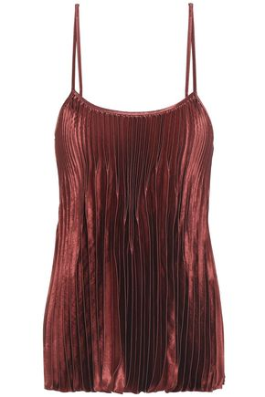VINCE. Pleated satin camisole