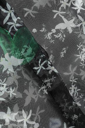 ISOLDA Betina floral-print silk-organza shirt
