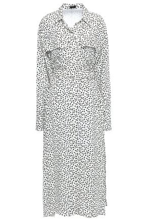 JOSEPH Printed silk-crepe midi dress