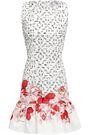 ISOLDA Printed stretch-cotton mini dress