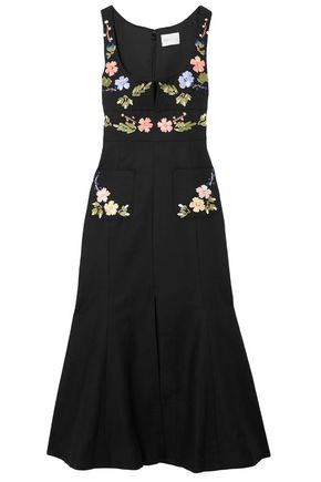 ALICE McCALL Embroidered cotton midi dress