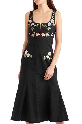 ALICE McCALL Embroidered cotton midi dress