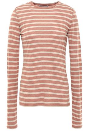 VINCE. Striped jersey top