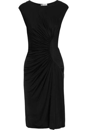 LANVIN Asymmetric ruched stretch-jersey dress