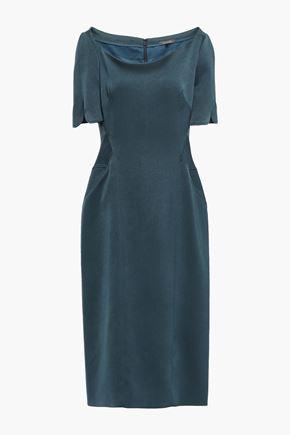 ZAC POSEN Stretch-crepe midi dress