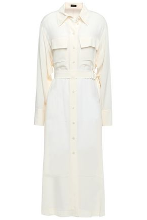 JOSEPH Silk crepe de chine midi shirt dress