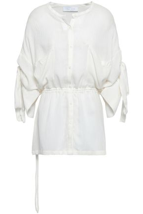 IRO Knotted gathered gauze top