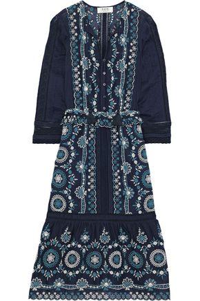 SEA Broderie anglaise cotton midi dress