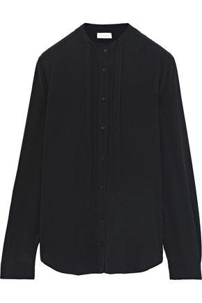 ANINE BING Tie-neck silk crepe de chine shirt