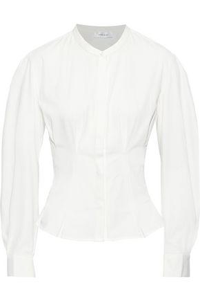 ANINE BING Victoria pleated cotton-poplin blouse