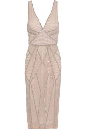 RACHEL GILBERT Kylah bead-embellished tulle dress