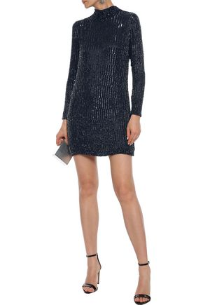 RACHEL GILBERT Samarah embellished georgette mini dress